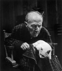 Wynn Bullock  -  Edward Weston with Cat, 1955 / Pigment Print  -  9x12, 11x14 or 16x20
