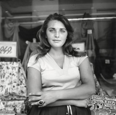 Vivian Maier  -  Untitled, 1959 (young woman) / Silver Gelatin Print  -  12 x 12