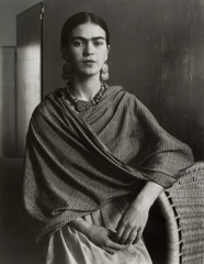 Imogen Cunningham  -  Frida Kahlo, Painter and Wife of Diego Rivera, 1931 / Silver Gelatin Print  -  12.75  x 10