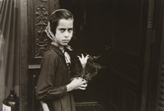 Helen Levitt  -  NY Girl with Lily, 1940 / printed later  -  6.5 x 9