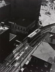 Jules Aarons  -  North Station Elevated from above, Boston / Silver Gelatin Print  -  9.5 x 7.5