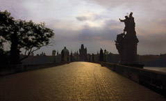 Robert Weingarten  -  Golden Bridge, Prague, Chech Republic, 1997 / Pigment Print  -  16 x 23.5