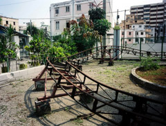 Laura Noel  -  Roller Coaster, Havana Cuba, 2007 / Chromogenic Print  -  19 x 23, Cuban playgrounds have varying  borders close to this size