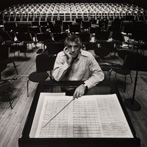 Arnold Newman, Leonard Bernstein, Philharmonic Hall, NY, 1968