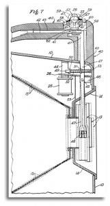 Diagram from patent for candid camera, 1958
