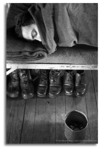Boots Stowed Under Cot, 1952